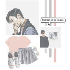 Choi Seunghyun by lazy-alien on Polyvore featuring moda, Monki, Chicnova Fashion, adidas Originals, Le Specs, bigbang, top and ChoiSeungHyun
