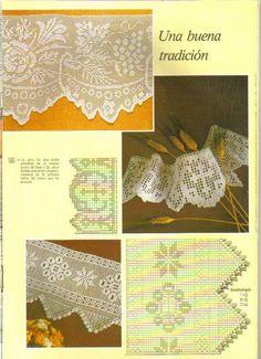 "Photo from album ""кайма"" on Yandex. Crochet Lace Edging, Crochet Motifs, Crochet Borders, Crochet Cross, Crochet Flowers, Crochet Stitches, Crochet Patterns, Filet Crochet Charts, Crochet Diagram"