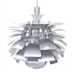 @Overstock - Make a striking modern statement with this unusual artichoke chandelier lamp. It has been created from light aluminum, and it is modeled after a masterpiece in Copenhagen. It has a silver finish, and it takes only one light: a 60-watt bulb. http://www.overstock.com/Home-Garden/Artichoke-Style-Modern-Silver-28-inch-Chandelier-Lamp/6673115/product.html?CID=214117 $609.99
