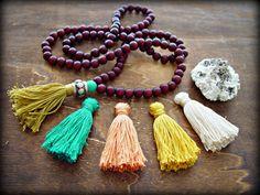 Yoga Mala collar 108 perlas Mala collar joyas por HandcraftedYoga