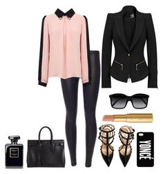 Untitled #69 by stylistsonyamarie on Polyvore featuring polyvore fashion style Valentino Yves Saint Laurent STELLA McCARTNEY Too Faced Cosmetics clothing