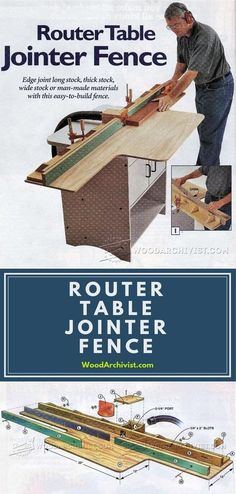 Router Table Jointer Fence - Router Tips, Jigs and Fixtures | WoodArchivist.com #woodworkingtips