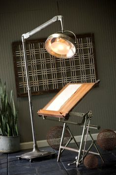 lamp and drawing board. both awesome.