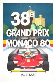 Monaco Grand Prix, 1980. Gift for sports fan