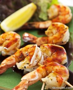 Barbecued Shrimp Cocktail is full of superfood goodness and helps me maintain a clean diet!  #BBQ #shrimp #cocktail