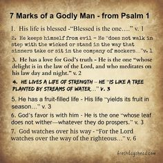 7 Marks of the Godly from Psalm 1