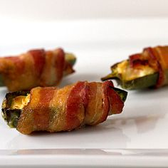 Cream Cheese-Stuffed, Bacon-Wrapped Jalapeños