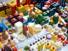 Architectural Blueprint of an Entire City Made of Food