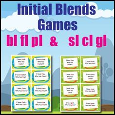Phonics Games - Initial Blends - bl, pl, fl, sl, cl & gl - I Have. Phonics Games, Word Games, Consonant Blends, Listening Skills, Word Study, Letter Sounds, Anchor Charts, Initials, Language