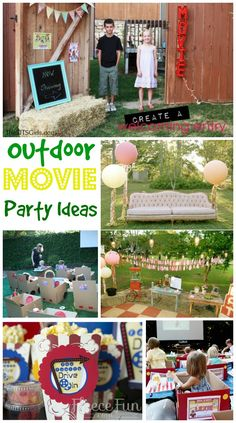 Outdoor Movie Party Ideas http://www.momsandmunchkins.ca/2014/05/21/movie-party-ideas/ #MovieNight #Birthday