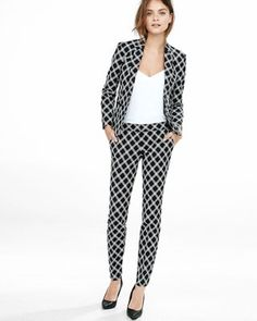 triple windowpane columnist ankle pant from EXPRESS