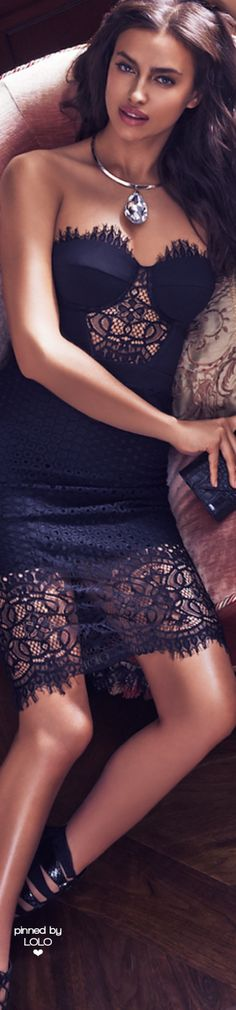 022b1e18 Irina Shayk BEBE Iconic Autumn 2015 | LOLO❤ Irina Shayak, Lil Black Dress
