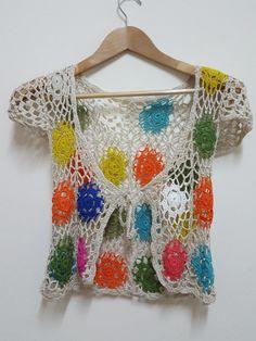 Handmade Vest Crochet Veast Hippie Vest Free size by AbourShop
