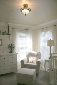 again, is it the white and green? the flowy curtains? But white for a kids room?!