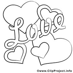Love Bild zum Ausmalen - Only Coloring Pages Valentine Coloring Pages, Heart Coloring Pages, Printable Adult Coloring Pages, Animal Coloring Pages, Colouring Pages, Coloring Sheets, Coloring Books, Easy Pencil Drawings, Love Drawings