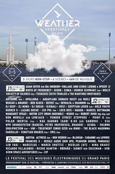 Weather Festival 2016 du 3 au 5 juin au Bourget #electro #Paris #France