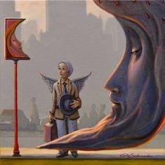 "Saatchi Art Artist Carlo Salomoni; Painting, ""THE METAPHYSICIAN MOON STOP."" #art"
