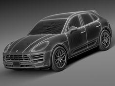 Porsche Macan GTS 2017 - 3d model - CGStudio