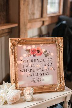 Romantic Wedding Signs | Audrey Rose Photography | http://heyweddinglady.com/playful-elegant-southern-blush-wedding-floral-print/