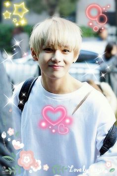 bts v  so cute and good you hair