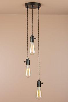 Industrial Chandelier Studio Lighting Edison by BlueMoonLights