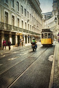 Life in Lisbon by eugkyr, via Flickr - using other ways of transportation #ridecolorfully w/ #katespade & #vespa