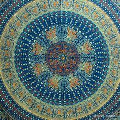Blue Indian Bird Paradise Hippie Mandala Tapestry Wall Hanging Bedspread