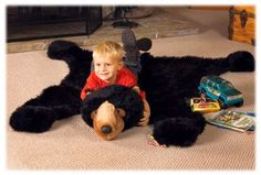 Bass Pro Shops® Plush Black Bear Rug for Kids | Bass Pro Shops