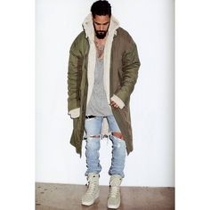 Jerry Lorenzo models Fear of God's Fourth Collection in 'SENSE'. by freshtastics