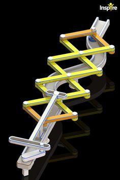 Scissor Mechanism 1C - SOLIDWORKS,STEP / IGES - 3D CAD model - GrabCAD