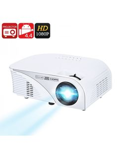 LED Projector, HD Projector And Pico Mini ProjectorChoose from a LED Projector using DLP, LCD or Pico imaging solutions. Buy an HD Projector suitable for the ultimate home theater and gaming experience. Or go for a mini projector such as a Projector Reviews, Lcd Projector, Google Play, Quad, Android 4.4, Projectors For Sale, Cool Things To Buy, Entertaining, Wi Fi
