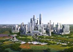 City near Chengdu (China) car-free concept // Design: Adrian Smith + Gordon Gill Architecture // The city promises to use 48 percent less energy / 56 percent less water and 89 less garbage. Will it work?