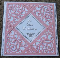 Handmade card - Christening - spellbinders