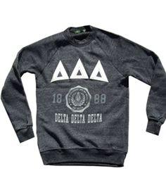 Tri- Delta vintage sweatshirt, LOVE :)