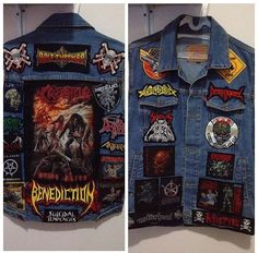 Heavy Metal Battlevest with Bolt Thrower, Benediction, Death Angel, Toxic Holocaust, Death, Anthrax, Arch Enemy, Metallica, Kreator, Carcass, Motorhead, Misfits, Municipal Waste, Exodus