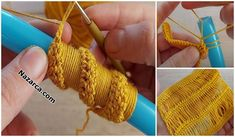 BALIKÇI YAKALI KAPÜŞONLU BAYAN BERE TARİFİ | Nazarca.com Bargello, Baby Knitting Patterns, Crochet Designs, Beret, Crochet Stitches, Fingerless Gloves, Arm Warmers, Shawl, Crochet Earrings