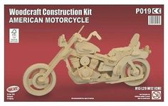 Quay - american motorcycle - woodcraft construction kit - #wooden #model #puzzle ,  View more on the LINK: http://www.zeppy.io/product/gb/2/232023948089/