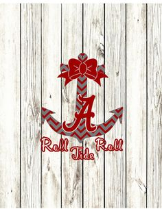 Alabama Crimson Tide Anchor Designs-SVG PNG and by SeaSideDesigns1