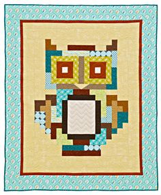 I love this owl quilt! The rectangular pieces make it seem simple enough to try.