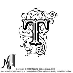 Monogrammed stencil. they want you to pay, but they have awesome stuff
