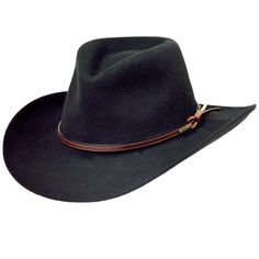 Stetson Men s Bozeman Wool Felt Crushable Cowboy Hat Black Medium The  Perfect Pack It 8c62e81e6979