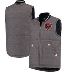 Chicago Bears Mitchell & Ness Margin of Victory Vest - Gray - $109.99