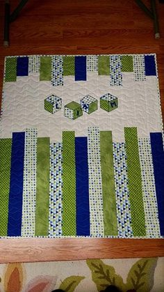 Wow check out this refreshing photo - what an artistic theme Cot Quilt, Lap Quilts, Strip Quilts, Small Quilts, Quilt Blocks, Baby Quilts Easy, Baby Boy Quilts, Girls Quilts, Baby Boy Quilt Patterns