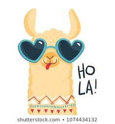Print for fabric, t-shirt, poster, wallpaper, wrapping pape. Alpacas, No Drama Lama, Cute Llama, Baby Llama, Funny Llama, Llama Birthday, Llama Alpaca, Cute Illustration, Cute Drawings