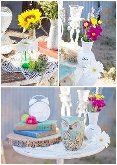 Rustic and fun wedding inspiration, Tiffany Amber Photography, via Aphrodite's Wedding Blog