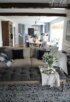 Dear Lillie: A Peek at a Few More In Progress Spaces in Our New Home Decor, Living Room, Navy Living Rooms, Painted Fox Home, Home, Fixer Upper Living Room, Coastal Living Rooms, Living Room Grey, Dear Lillie