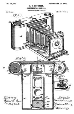 Frank A. Brownell's Photographic Camera patented January 21, 1902