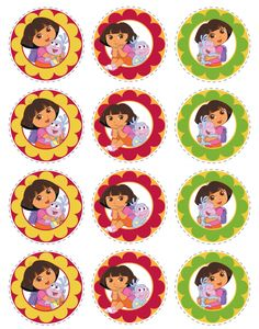 Dora Birthday Invitation Bags Awesome And Cupcake Toppers - Dora birthday cake toppers