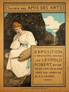 Société des Amis des Arts, Exposition à Neuchâtel  P. GODET (1900 circa)