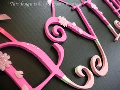 Custom Cherry Blossom Wall Letters! Great for a nursery, Child's room, or baby shower gift!